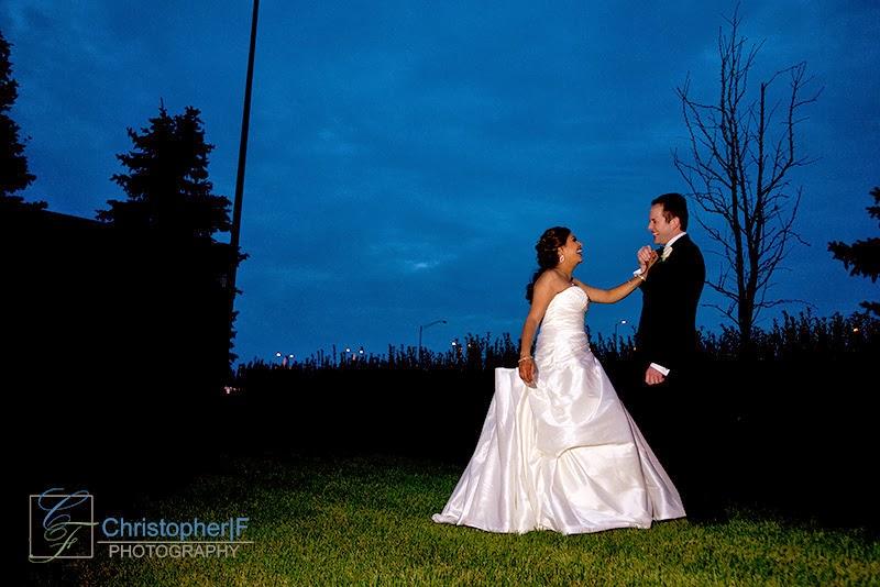 Bridal Portrait Night Photo