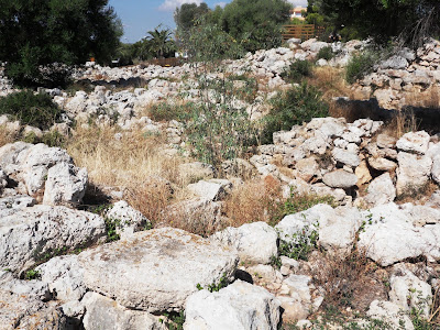 Remains of Talayot village or settlement S'Illot