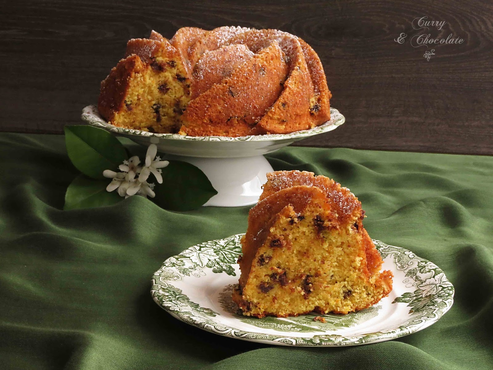 Bizcocho de mandarinas frescas y pepitas de chocolate XL - Fresh Tangerine Budnt Cake with chocolate chips