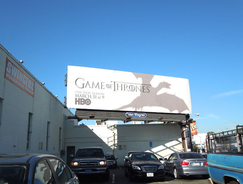 Game of Thrones dragon season 3 billboard