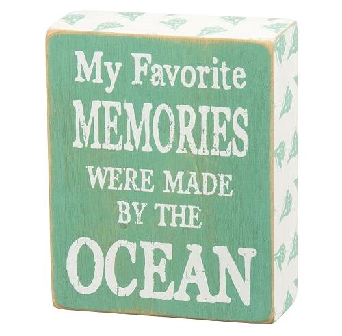 Beach Memories Wood Box Sign