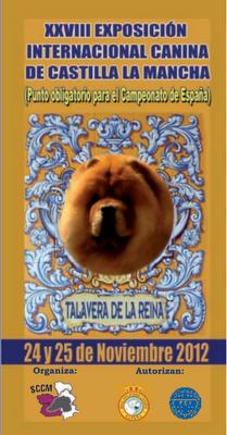 Triptico 28 Exposición Internacional de Perros Canina Castilla La Mancha