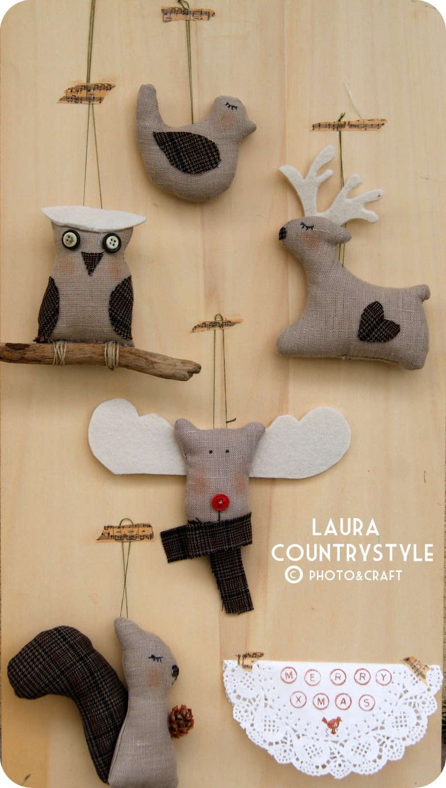 Laura country style christmas 2014 christmas ornaments for Country chic christmas
