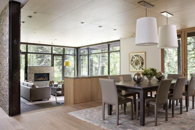 Casas minimalistas y modernas comedores modernos y minimalistas - Iluminacion para comedores ...