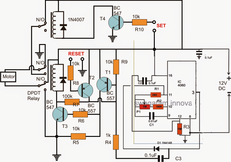 How to Build a Reverse Forward Motor Timer Circuit for Incubator Mechanism