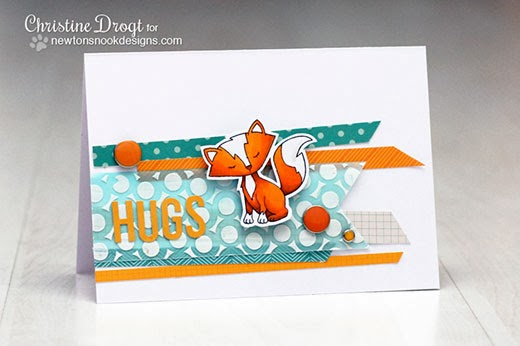 Fox Hug Card by Christine Drogt using Sweetheart Tails stamp set by Newton's Nook Designs