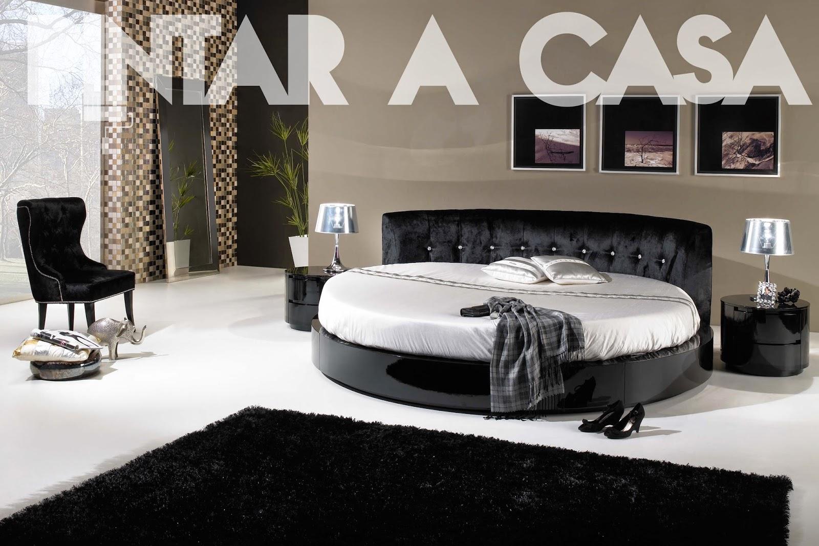 quarto-decoração-interior-cama-redonda