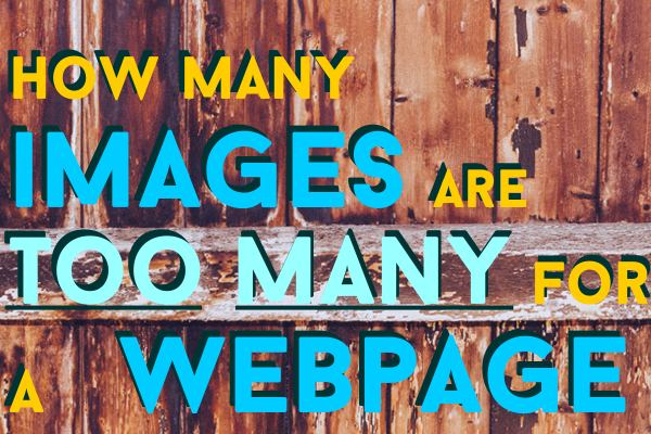 Optimum Number of Images for a Webpage