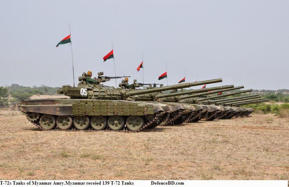 T-72 Tanks of Myanmar Army