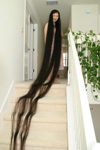 Welcome To Fizzygist Center Woman With The Longest Hair