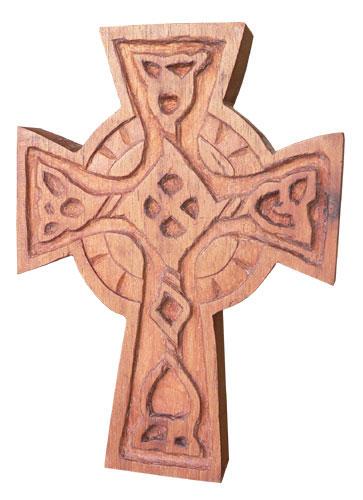 Cruz Celta - Entalhe em madeira