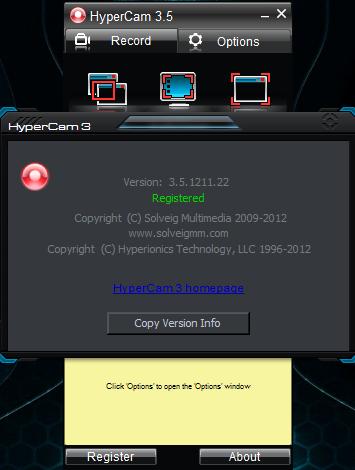 Free download program Hypercam Ver 2 14 01 ENGLISH