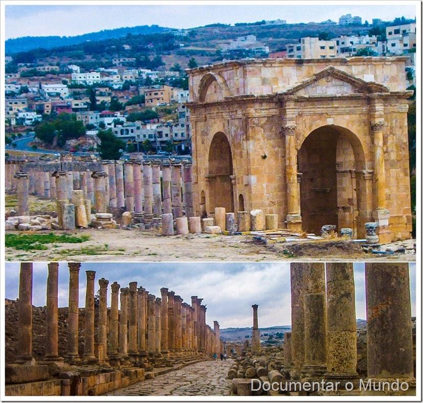 Avenidas; Jerash; Jordânia