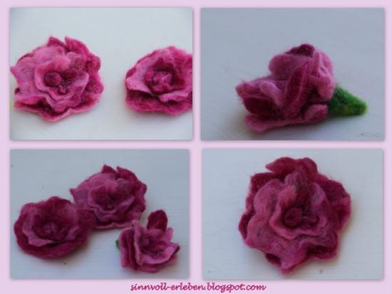 gefilzte Rosen Nr. 1