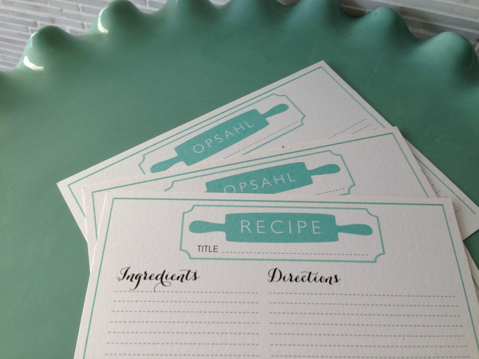 modern recipe card template