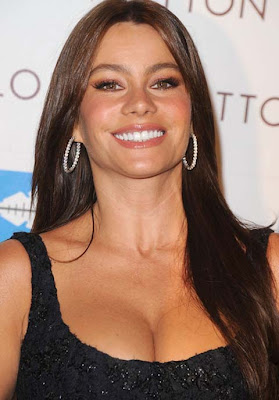 Sofia Vergara Diamond Hoop Earrings