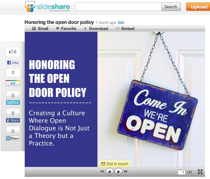 Open Door Policy Clipart