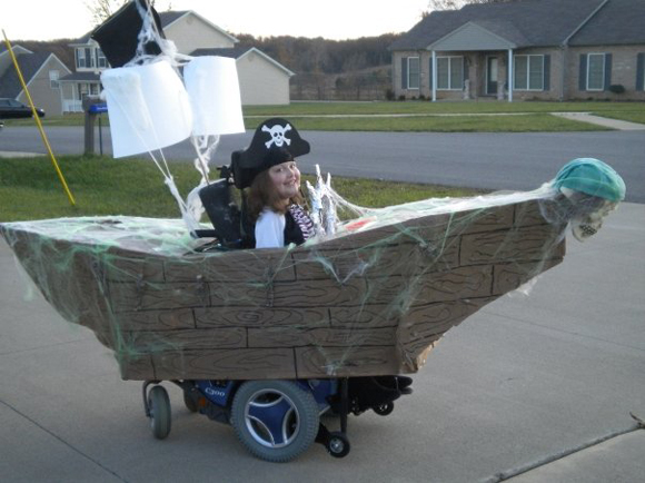 Pirate Wheelchair Art Car