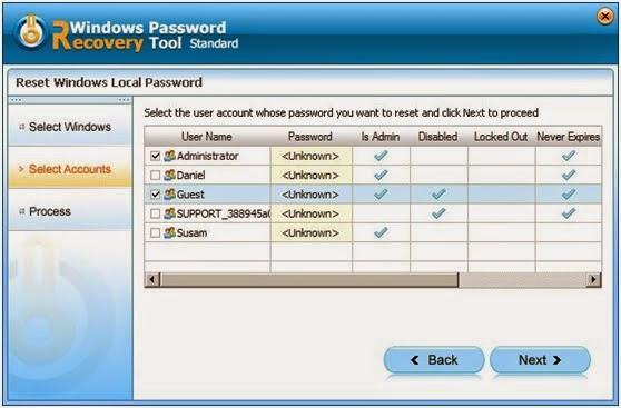 change locked user windows 7
