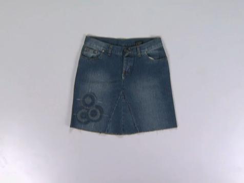Como customizar uma saia jeans