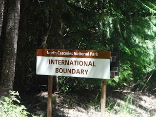 International Boundary Sign - North Cascades National Park
