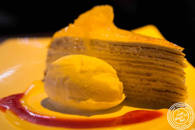 Image of Lemon mille crepes cake at Ember Room from Chef Kittichai in NYC, New York