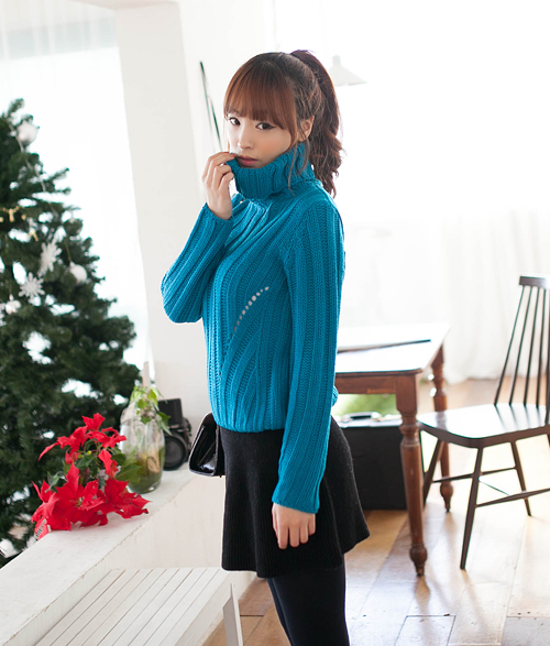 Cowl Neck Knit Pullover by 2fb
