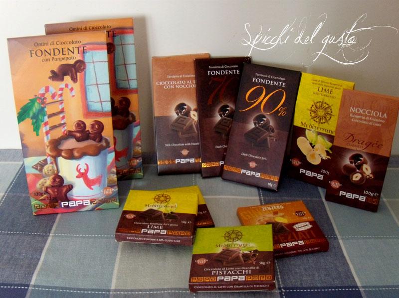 prodotti di cioccolato papa