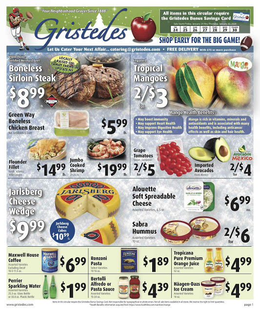CHECK OUT ROOSEVELT ISLAND GRISTEDES Products, Sales & Specials For January 24 - January 30