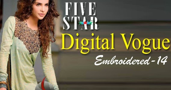 New Pk Fashion Five Star Digital Vogue Embroidered 2014
