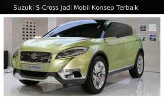 Suzuki S-Cross jadi mobil konsep terbaik
