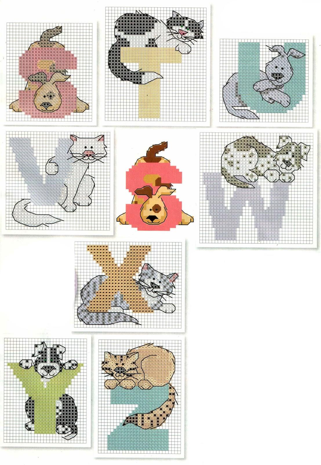 Вышивка с котами примета 85