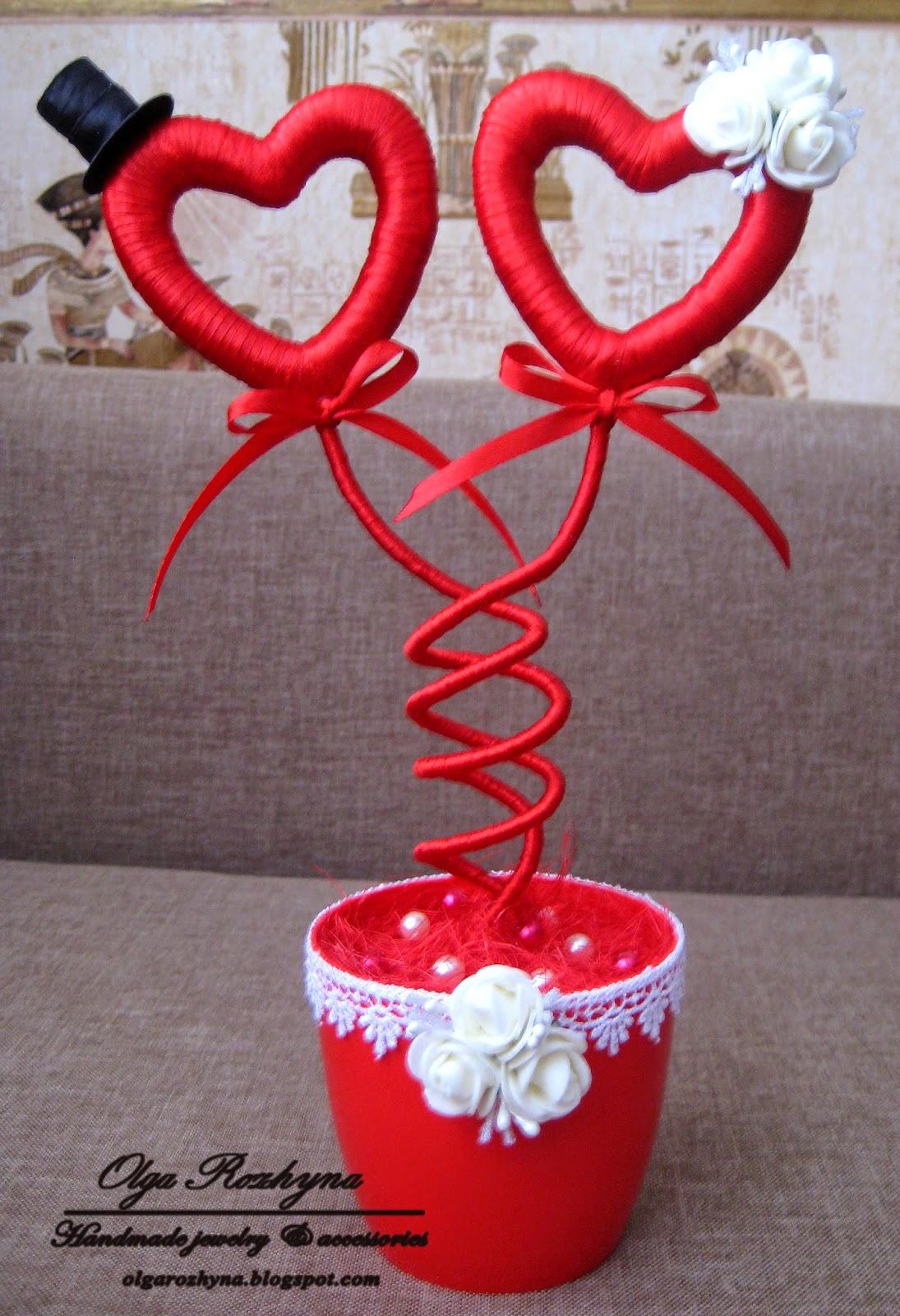 Топиарий к дню святого валентина своими руками фото