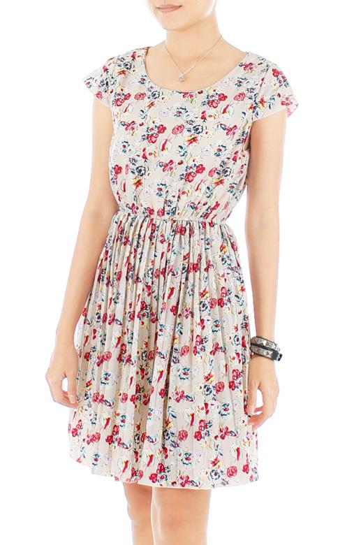 Ivory Wallflower Pleated Dress