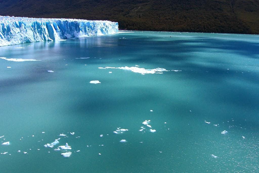 The beautiful blue glacier