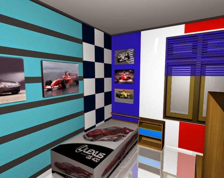 Desain kamar tidur anak muda keren 3