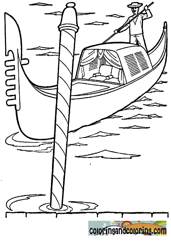 gondola coloring pages