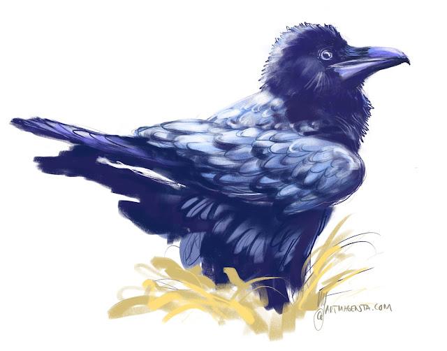 Korp fågel målad av Artmagenta