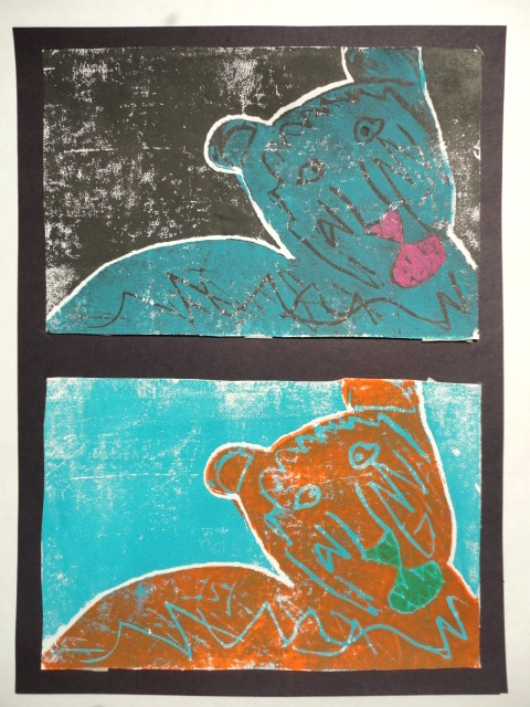 thomas elementary art 4th grade animal printmaking the best