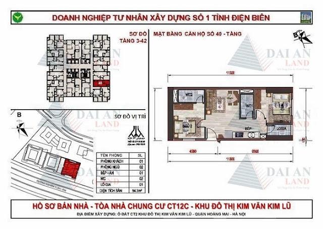Căn 40 - Chung Cư Kim Văn Kim Lũ CT12C
