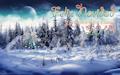Postal de Invierno con mensaje de Feliz Navidad