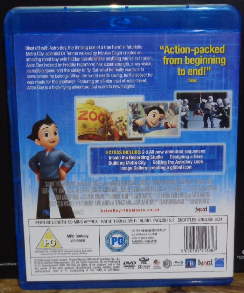 Movies On Dvd And Blu Ray Astro Boy 2009 The Movie Action Figure Original Extras