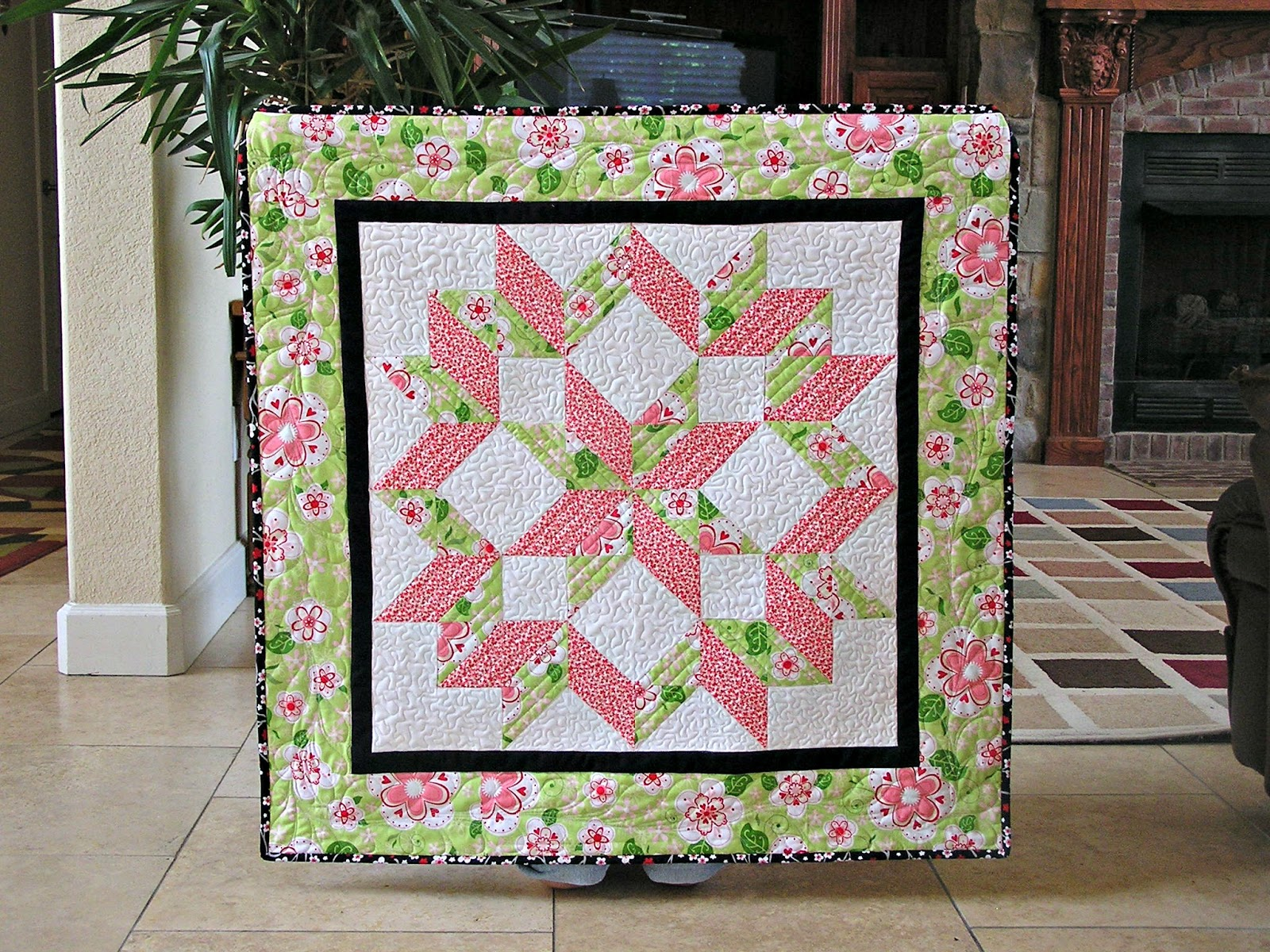 Wall Hanging Quilts the fleming's nine: blogger's quilt festival - wall hanging