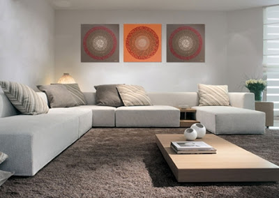 Decoraci n minimalista y contempor nea decoraci n con - Cuadros para encima del sofa ...