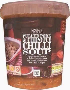 Marks & Spencer Pulled Pork & Chipotle Chilli Soup