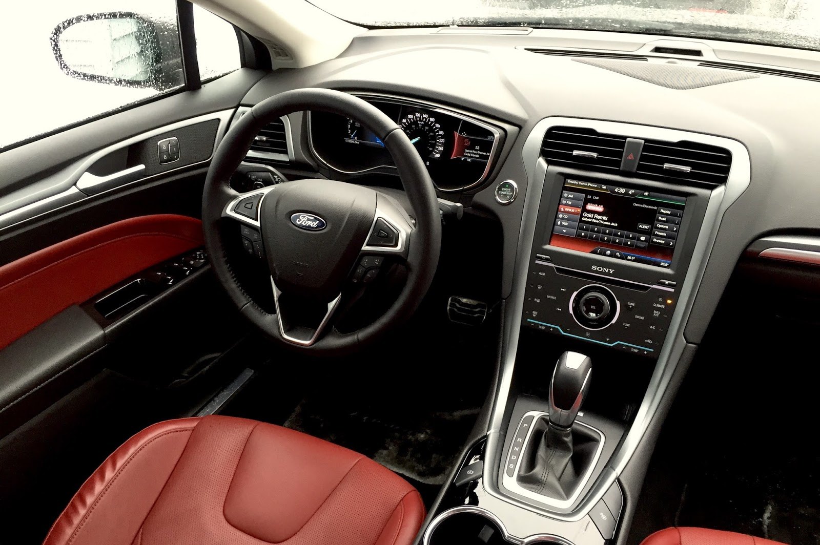 2015 FORD FUSION Titanium brick red interior