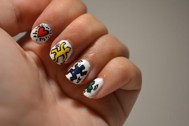 Keith Haring Nail Art by Elins Nails