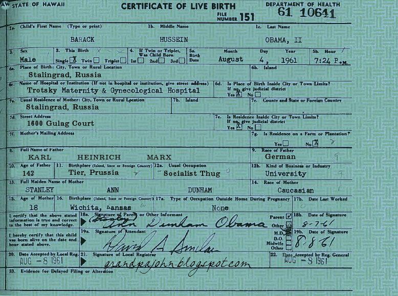 birth form certificate president obama grandpa john settled guess then