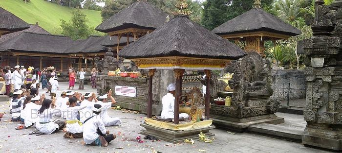 Hindus were praying in Pura Tirta Empul, Gianyar, Bali Indonesia