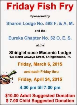 3-27 Thru 4-24 Fish Fry Shinglehouse